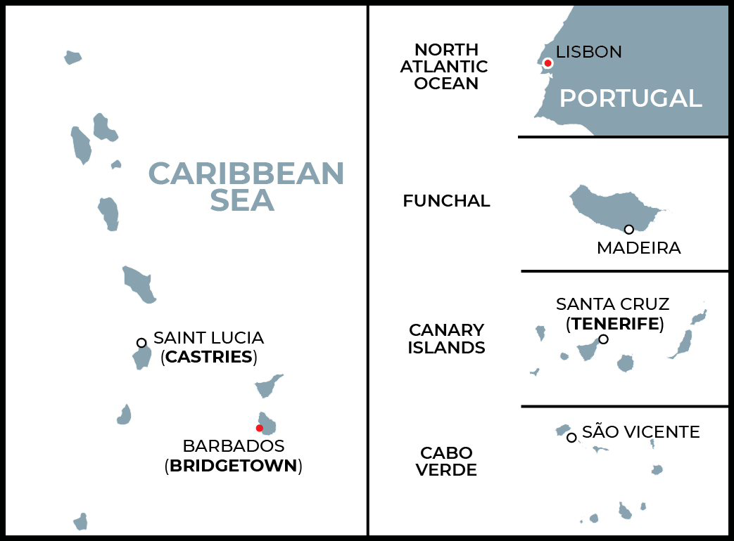 Fall 2021 Transatlantic Sectional at Sea - Lisbon to Barbados