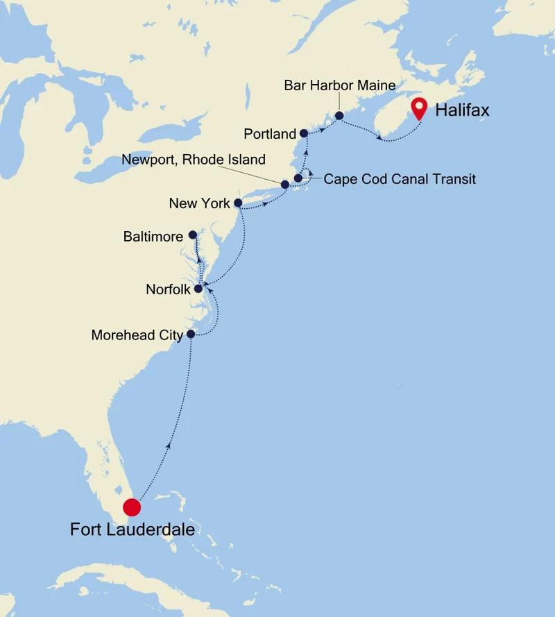 Go Away Travel Bridge Cruise - Ft. Lauderdale to Halifax, Nova Scotia